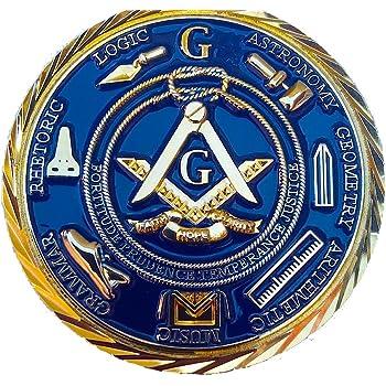1.75 Grand Master Hiram Abiff Commemorative Master Mason Smooth Finish Two sided Coin Equinox Masonic Regalia GMH-S5610