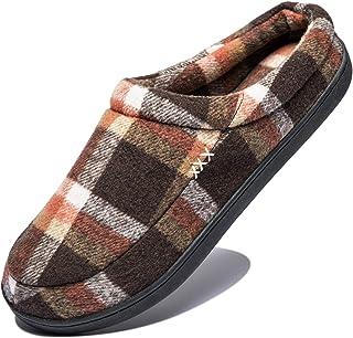 Hombre Zapatillas de Casa Espuma de Memoria Cálido Interior Pantufla Antideslizante Zapatos, Talla 39-50