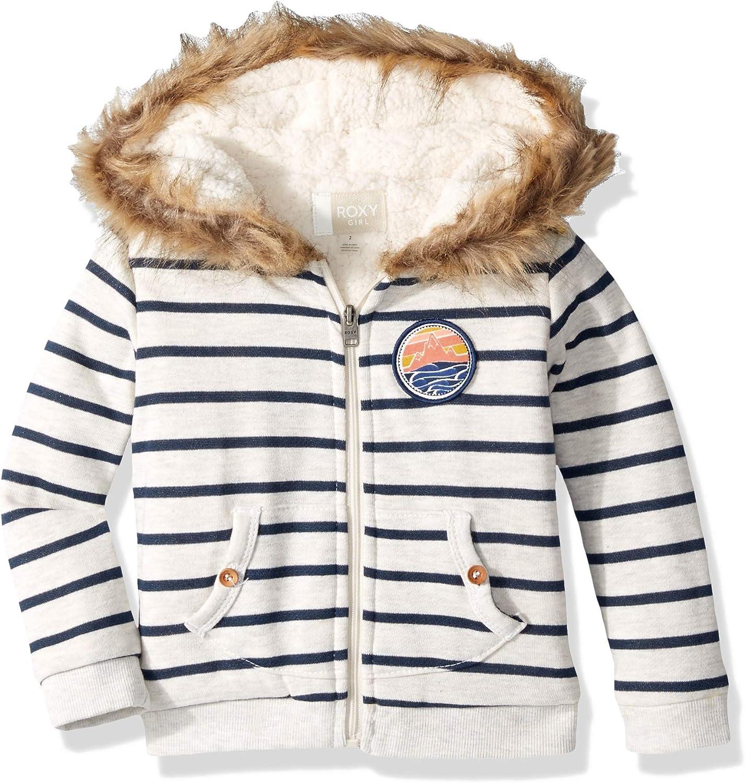 Roxy Girls Slumber Party Sherpa Lined Zip Up Hooded Fleece Top
