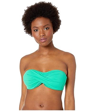 Tommy Bahama Pearl Twist Bandeau Bra (Caribbean Green) Women