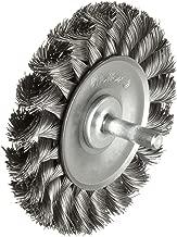 Weiler Standard Wire Wheel Brush, Round Shank, Steel, Partial Twist Knotted, 3-1/4