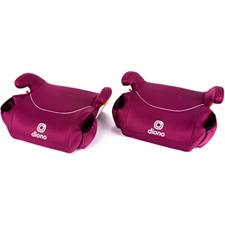 Diono Solana - Backless Booster Car Seats, Pink, 2 Count