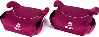 Diono Solana, Pack of 2 Backless Booster Car Seats, Lightweight, Machine Washable Covers, 2 Cup Holders, Pink