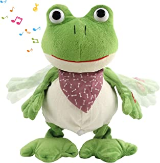 """Frog Stuffed Animal Soft Plush Toy Prince Kids Gift Frog Doll with Hat 8/"""" 19/"""""""