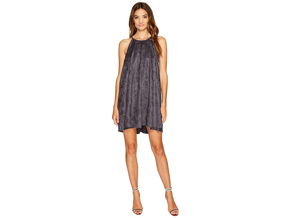 Bishop + Young Suede High Neck Shift (Slate Blue) Women