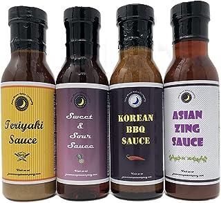 Premium | Classic ASIAN SAUCE | Variety 4 Pack | Asian Zing Wing Sauce | Korean BBQ Sauce | Sweet & Sour Sauce | Teriyaki Sauce |