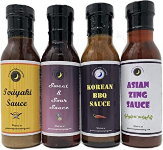 Premium   Classic ASIAN SAUCE   Variety 4 Pack   Asian Zing Wing Sauce   Korean BBQ Sauce   Sweet & Sour Sauce   Teriyaki Sauce  