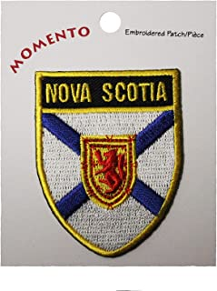 NOVA Scotia Canada Provincial Flag Shield with Gold Trim 1 7/8