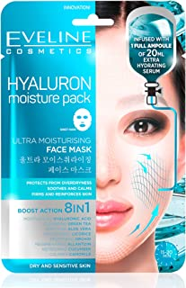 Eveline Cosmetics Hyaluron Moisture Pack Sheet Mask 8 in 1
