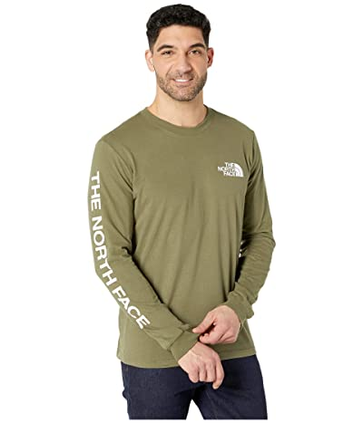 The North Face Long Sleeve TNFtm Sleeve Hit T-Shirt (Burnt Olive Green) Men