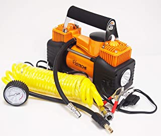 hoteche Portable 12V Dual Cylinder Air Compressor Pump Tire inflator LED Flashlight Kit