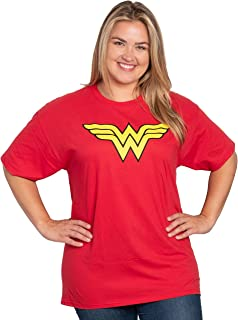 DC Comics Wonder Woman Plus Size T-Shirt Logo Graphic Costume Print 100% Cotton