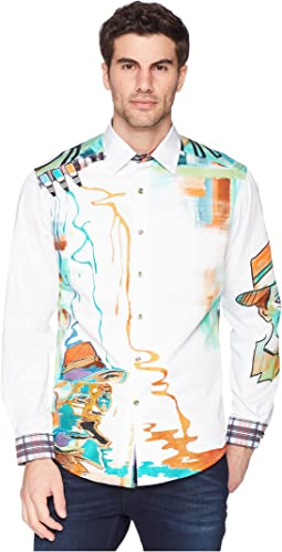 Robert Graham Limited Edition Dripping Hues Sport Shirt