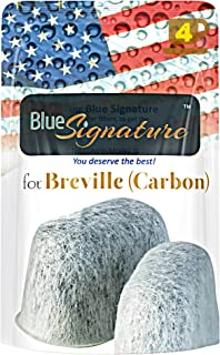 Water Filters (carbon) for BREVILLE coffee machine BWF100 - Premium, Compatible Activated Carbon Filters - Replacement CHARCOAL Water Filters for BWF-100 Coffee Makers (4)