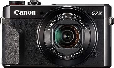 Canon PowerShot G7 X Mark II Digital Camera w/ 1 Inch Sensor and tilt LCD screen - Wi-Fi & NFC Enabled (Black) (Renewed)