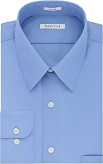 Van Heusen Men's Dress Shirt Regular Fit Poplin Solid