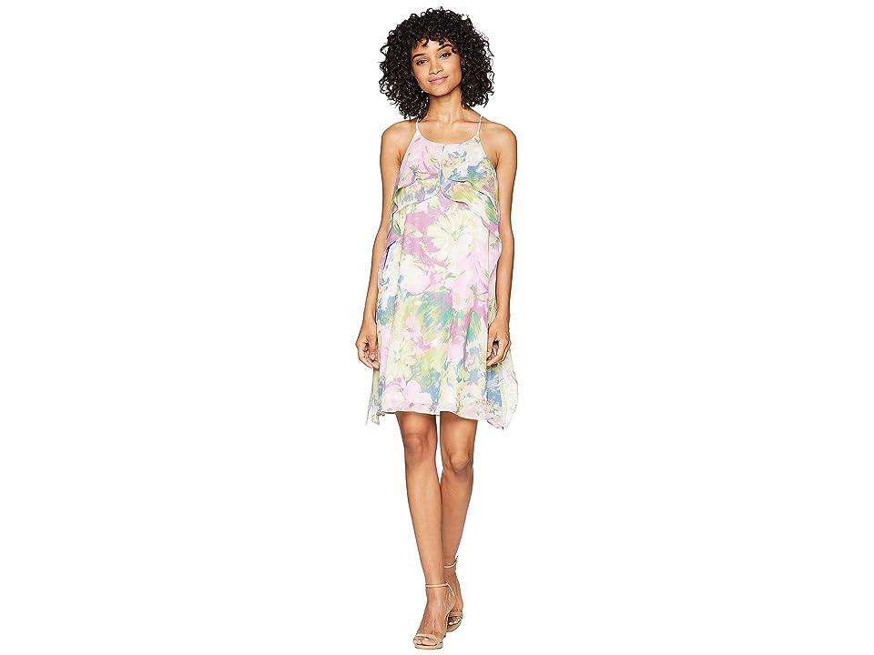 BCBGMAXAZRIA Ruffle Dress (Pink Multi) Women