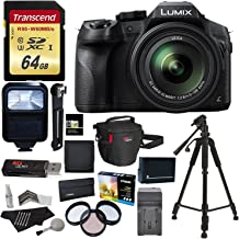 Panasonic LUMIX DMC FZ300 4K Point and Shoot Camera with Leica DC Lens 24X Zoom Black + Polaroid Accessory Kit + 64GB SD Card + 50