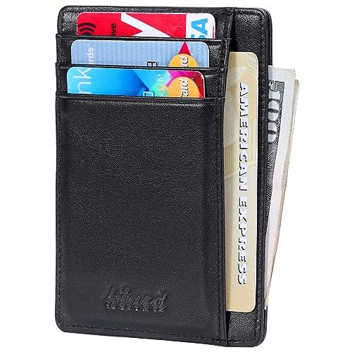 aa40c052e86b3 Slim Wallet RFID Front Pocket Wallet Minimalist Secure Thin Credit Card  Holder