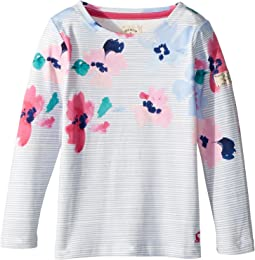 Joules Kids - Floral Stripe Jersey Top (Toddler/Little Kids/Big Kids)