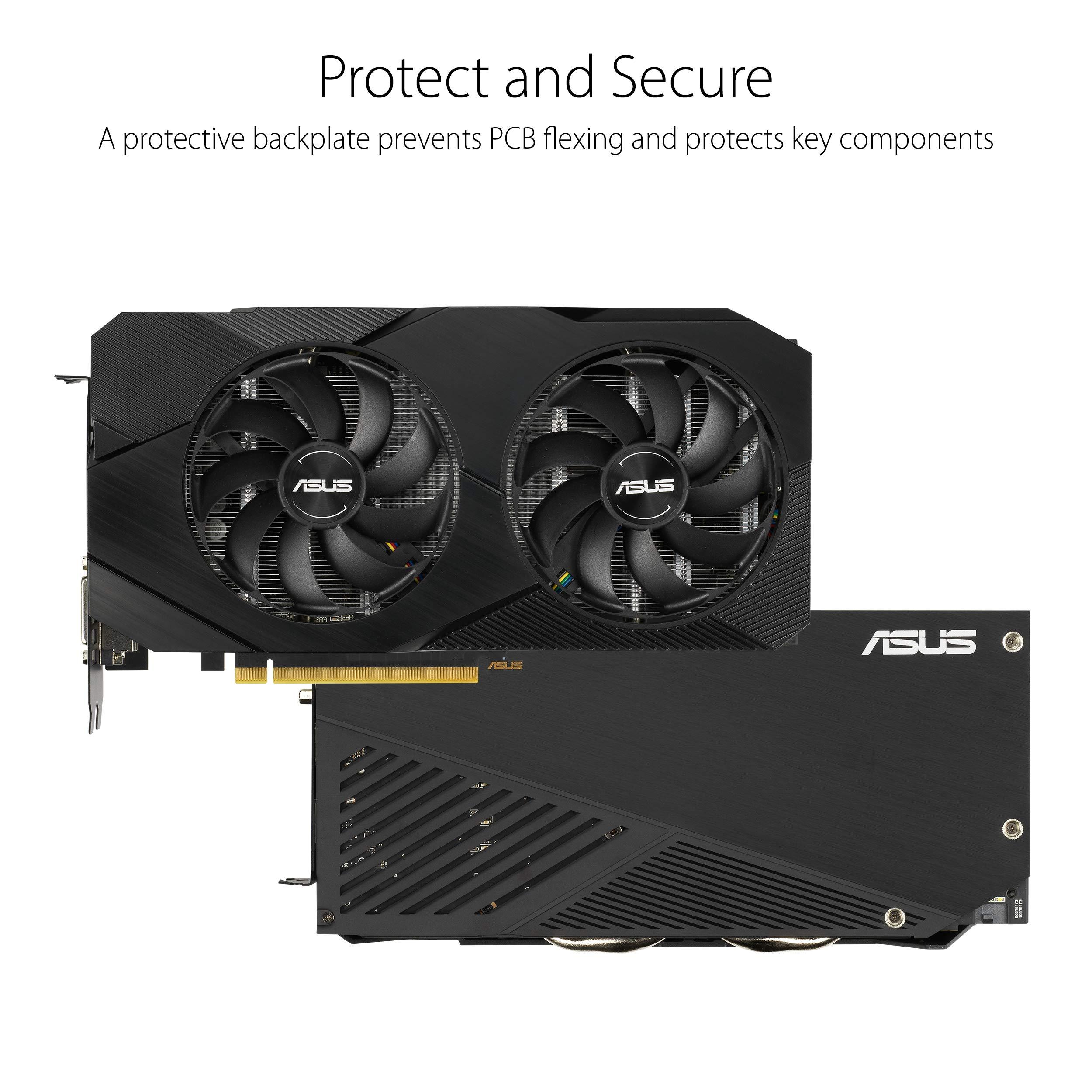 ASUS GeForce RTX 2060 Overclocked 6G GDDR6 Dual-Fan EVO Edition VR Ready HDMI DisplayPort DVI Graphics Card (DUAL-RTX2060-O6G-EVO) DUAL RTX 2060 RTX 2060