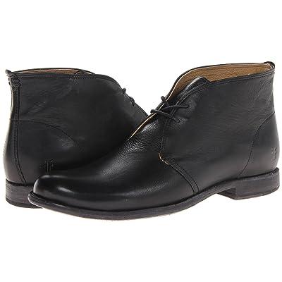 Frye Phillip Chukka (Black Soft Vintage Leather) Men