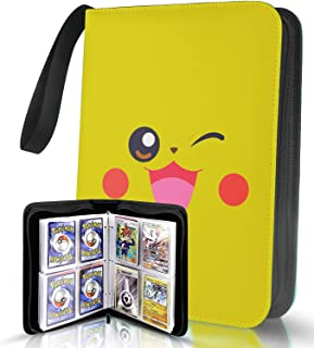 Eparty Pocket Moners Card Binder for Trading Cards,Fits 400 Cards with 50 Removable Sheets,patible with Baseball Card Slee...