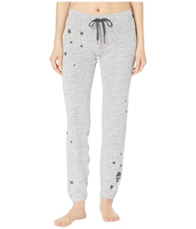 P.J. Salvage Stars and Skulls Jogger (Heather Grey) Women