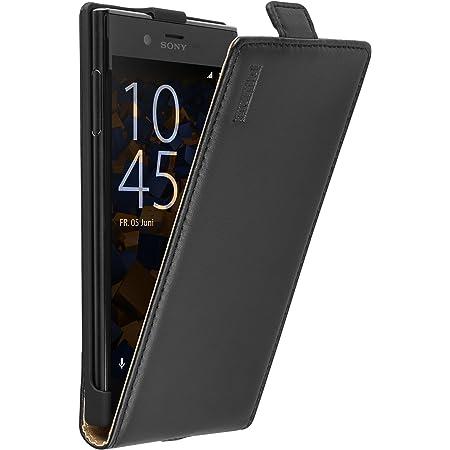 Mumbi Echt Leder Flip Case Kompatibel Mit Sony Xperia Xz Xzs Hülle Leder Tasche Case Wallet Schwarz Elektronik