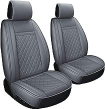 LUCKYMAN CLUB 2 PCS Gray Car Seat Covers Fit Most Sedan SUV Truck Fit for Chevy Silverado Equinox Malibu Impala Toyota 4Runner Tacoma Land Cruiser (2pcs Gray)