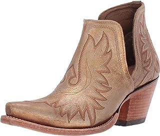 Ariat Women's Women's Dixon Western Boot, Distressed Gold, 6 B US