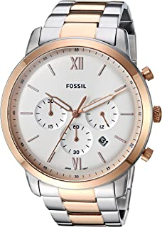 Fossil Men's Quartz Watch chronograph Display and Stainless Steel Strap, FS5475