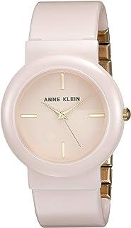 Anne Klein Women's AK/2834LPGB Gold-Tone and Light Pink Ceramic Bangle Watch