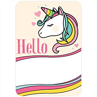 Avery Premium Rainbow Unicorn Name Tags, No Lift No Curl, 36 Handwriteable Name Stickers
