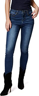 Morgan Denim Taille Haute Pnavy Jeans Femme