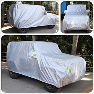 Color : Blue Car Cover Waterproof All Weather,Suitable for Fiat 124 Spider Waterproof and Cotton Thickening