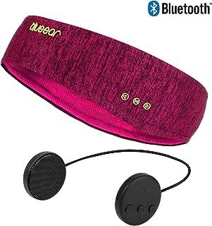 Bluetooth Headband Headphones blueear Wireless Sleepphone Sports Sweatband Hairband (Red)