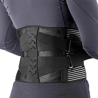 腰サポーター 2021年最新版 AGPTEK コルセット 腰痛 腰痛ベルト 腰ベルト 腰痛軽減ベルト 腰椎サポーター 腰・腰椎用サポーター 姿勢矯正 保護 腰用 けが防止 伸縮 大きいサイズ 男女兼用