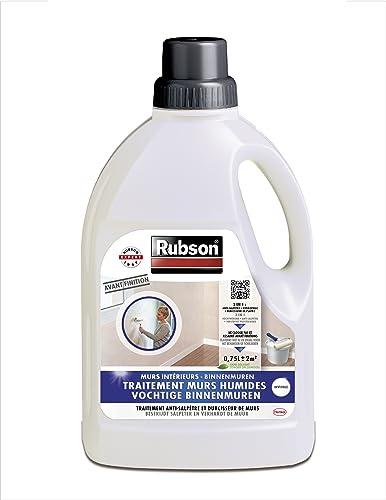 Rubson Traitement Murs Humides, Traitement 3-en-1 anti-salpêtre, hydrofuge et durcisseur de plâtre pour tous supports...