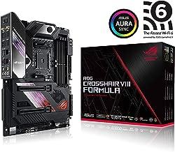 Asus ROG X570 Crosshair VIII Formula ATX Motherboard with PCIe 4.0, on-Board WiFi 6 (802.11Ax), 5 Gbps LAN, USB 3.2, SATA, M.2, Node and Aura Sync RGB Lighting