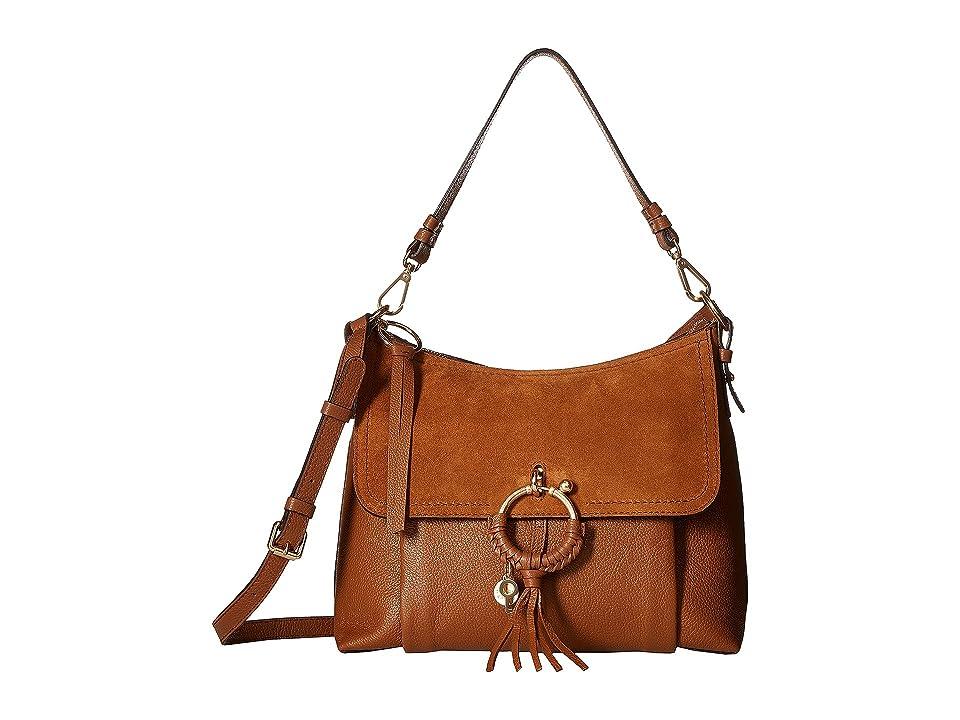 See by Chloe Medium Joan Suede Leather Shoulder Bag (Caramello) Shoulder Handbags