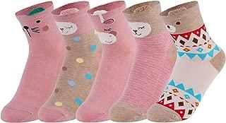 4 Pairs Christmas Socks Cartoon Soft Novelty Socks Casual Socks for Women Girls