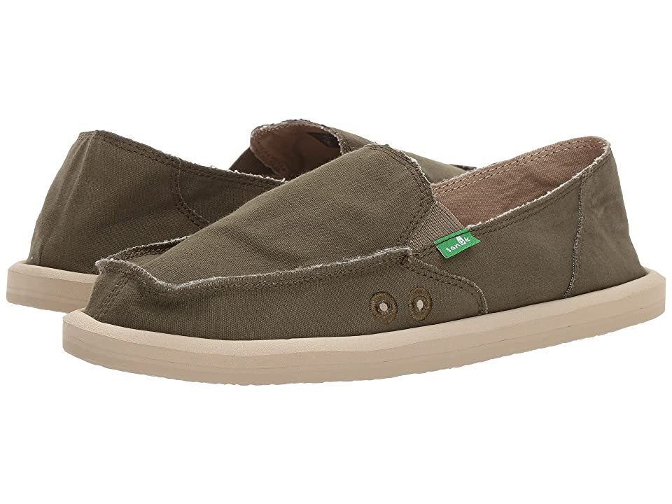Sanuk Donna Daily (Dark Olive) Women
