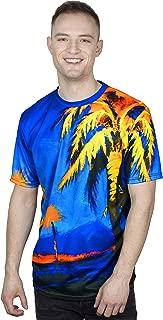 Neon Blacklight Designed Printed Short Sleeve Men T-Shirt