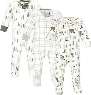 Hudson Baby Kapcie dla niemowlęcia/dziecka Uniseks - niemowlęta Hudson Baby Unisex Baby Cotton Sleep and Play, Forest Animals