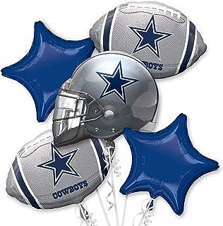 Anagram NFL - Dallas Cowboys - Foil Balloon Bouquet, Silver/Blue