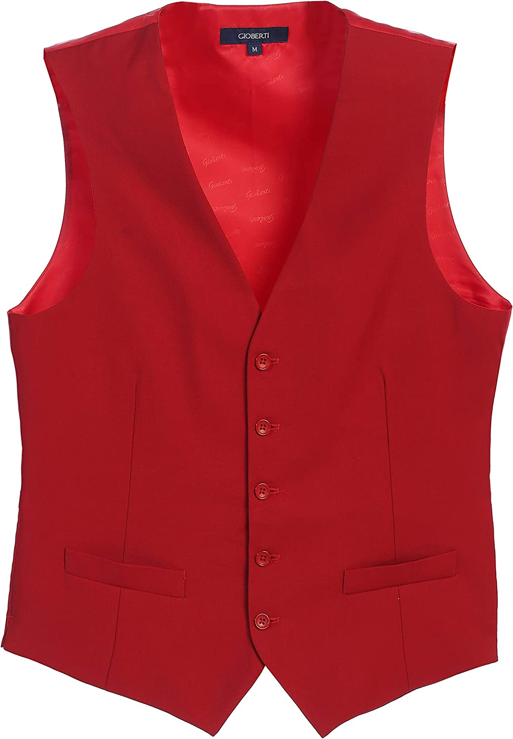 safety Special price for a limited time Gioberti Mens Formal Vest Suit