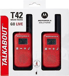 Motorola Motorola T42 RED Krótkofalówki, 2 Sztuki (Zestaw), Czerwony/Czarny