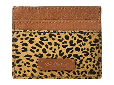 Madewell Leather Card Case in Haircalf (Desert Dune Multi) Handbags