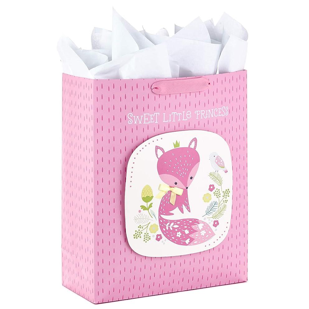 Hallmark 5WDB1127 Extra Large Tissue Paper (Sweet Little Princess Fox) Gift Bag, X, Purple Floral
